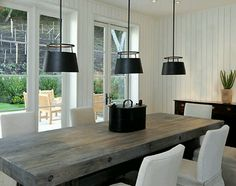 28 Best Of Modern Farmhouse Dining Room Lighting - Dining Room Design Ideas Home Design, Interior Design Trends, Design Ideas, Interior Ideas, Cottage Dining Rooms, Dining Room Table, Chunky Dining Table, Dining Chairs, Living Room