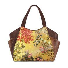 """Japanese Screen"" design, Icon handbags."