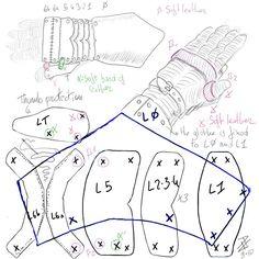 Gauntlets blueprints by Astanael.deviantart.com on @deviantART
