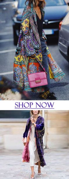 Fashion Tips for Women Over 40 - Fashion Trends Fashion Prints, Boho Fashion, Winter Fashion, Girl Fashion, Fashion Women, Fashion Outfits, Fashion Tips, Kimono Fashion, Estilo Cool