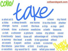 Englishing: Collocations with 'take'