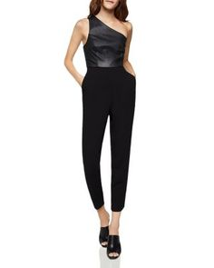 86fef4bf74c8 BCBGENERATION One-Shoulder Cropped Jumpsuit Women - Bloomingdale s