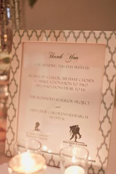 Wedding Favors   Gift of Charity   Wounded Warrior Project   Mrs Planner