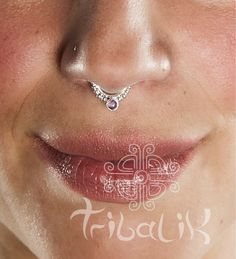 EKA AMETHYST Silver septum ring, tribal septums,silver septums, tragus ring  6)