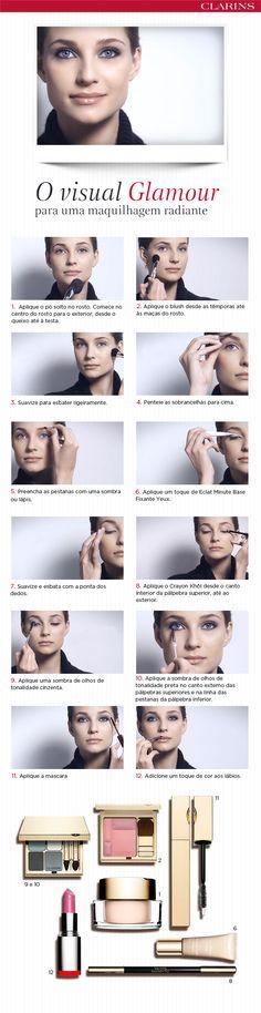 GLAMOUR O visual glamour para uma maquilhagem radiante