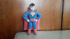 Paper craft 3d origami superman