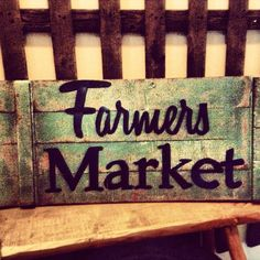 Farmers market Sign reclaimed wood by RusticBarndecor on Etsy, $45.00