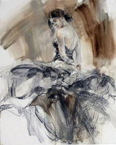 Flamenco (Sepia) by Anna Razumovskaya Artwork Love Painting, Painting & Drawing, Anna Razumovskaya, Dance Paintings, Dance Art, Renoir, Brown And Grey, Original Paintings, My Arts