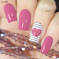 55 New collections of the best nail art designs for Valent .- 55 Neue Kollektionen des besten Nail Art Designs zum Valentinstag 55 New collections of the best nail art designs for Valentine& Day York - Valentine's Day Nail Designs, Best Nail Art Designs, Heart Nail Designs, Pink Nail Art, Cool Nail Art, Pink Art, Red Art, Acrylic Nails Natural, Valentine Nail Art