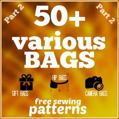 50+ various Bags free sewing patterns