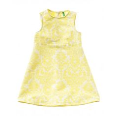 Dress made of printed cotton, with bow applique at sides of neckline. Ideal for a romantic look. Romantic Look, Benetton, Cotton Dresses, Printed Cotton, Dress Making, Girls Dresses, Boutique, Tank Tops, Prints