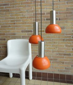 eBay watch: 1970s Danish three-drop pendant light