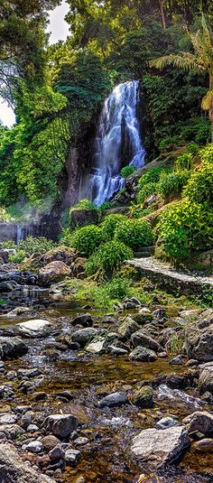 Waterfall at Ribeira dos Caldeiros, São Miguel, Azores, Portugal [Explored 2012-10-17] | Flickr - Photo Sharing!