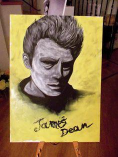 James Dean.  Acrylic on canvas.   05.06.2012