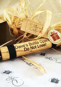 Wooden Engraved Bottle Opener: Pop the Cork: Wooden Engraved Bottle Opener