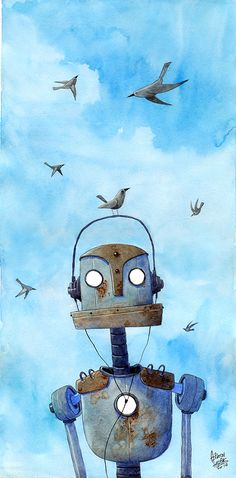 #robo #birds #watercolor #illustration #art #adilsonfarias #sketchbook