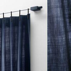 Kvadrat Ready Made Curtain Trevira gordijnen donkerblauw | FLINDERS verzendt gratis
