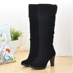 Cheap boots for women high heels, Buy Quality shoes royal blue dress directly from China shoe trees for boots Suppliers:    ENMAYER New hot sale 2014  new fashion high qulity lady, ladies, black and red brown and yellow brown women's boots A