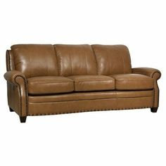 Bennett Italian Leather Sofa and Loveseat Set by Luke Leather. $1414.99. Bennett-Wheat 2552-Sofa Features: -100pct Top grain Italian leather.-Leather is semi aniline dyed.-Classic retro design.-Lightly contrasted stitched back adds a beautiful detail.-Brushed studs along back, arm and front rail.-Loose seat cushions.-Semi attached dacron back cushions.-Wood block foot design.-Nine gauge sinuous ''no sag'' wire springs.-Guaranteed free of factory defects for a peri...