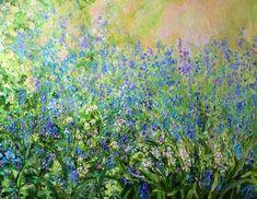Blue Painting, Acrylic Painting Canvas, Canvas Art, Impressionist Landscape, Impressionist Paintings, Paintings For Sale, Original Paintings, Original Art, Nature Paintings