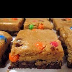Peanut butter cookie dough brownies, YUM
