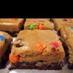 Peanut butter cookie dough brownies, YUM