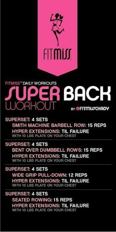 Super Back Workout by Fitmiss Plyo Workouts, Fun Workouts, Workout Challenge, Workout Ideas, Workout Fun, Hitt Workout, Biceps Workout, Workout Plans, Back Exercises