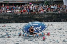 Hawaii Ironman World Championship before the swim start. By Randy Wrighthouse