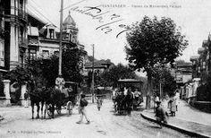 BREVE HISTORIA DE LOS TRANVÍAS DE SANTANDER. Tranvía de Miranda a su paso por Menéndez Pelayo. Cortesía: Historias del tren, San Sebastián (España).