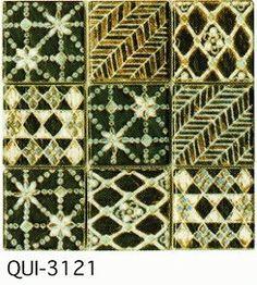 緑50角デザインタイルモザイクタイル磁器