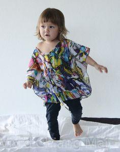 Kids top kaftan caftan toddler floral size 2T age 12 by VividDress, $15.00