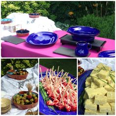 Spanish inspired canapé food stall
