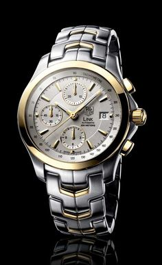 Tag Heuer Link chronograph, often seen on Mitt Romney's wrist.