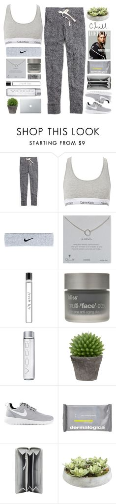 Untitled #1843 by tacoxcat on Polyvore featuring Madewell, Calvin Klein, NIKE, Balenciaga, Dogeared, Fresh, Dermalogica, Bliss, Ethan Allen and Broste Copenhagen