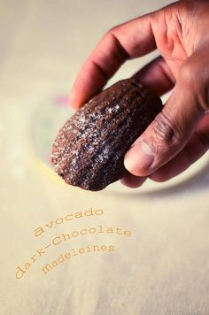 Avocado dark-chocolate madeleines (no butter or oil)