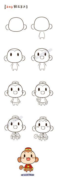 2016, Happy New Year!  Moe Monkey