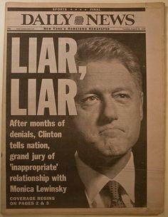 Le maître indiscutable de l'autoindulgence et du repentiment, est conféré et bien mérité à celui que les amis et les compatriotes appellent «Bubba», ou bien le 42º président des Etats Unis d'Amérique, Bill Clinton et mari de la first lady Hillary Clinton. Lire la suite...