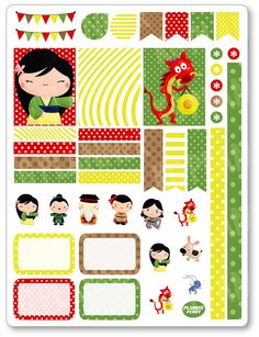Warrior Princess Decorating Kit / Weekly Spread Planner Stickers for Erin…