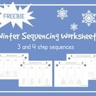 These FREE Winter Sequencing Cut and Glue Worksheets are for practicing 3 and 4 step sequences.  The sequences included are: Decorating the Tree (3...