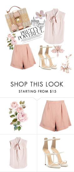 """Rose Flower"" by emina-la ❤ liked on Polyvore featuring Finders Keepers, MaxMara, Giuseppe Zanotti and Mark Cross"