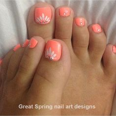 Nail Art Designs For Toes Pictures spring toe nails art designs ideas Nail Art Designs For Toes. Here is Nail Art Designs For Toes Pictures for you. Nail Art Designs For Toes nail art easy toe nail art designs gallery jo. Coral Toe Nails, Flower Toe Nails, Toe Nail Color, Toe Nail Art, Nail Colors, Orange Toe Nails, Coral Nail Art, Blue Toes, Summer Nail Art