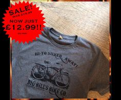 Big Bills Bike Co. - Stephen Kings IT inspired us to make this great vintage looking horror t-shirt. Come to the Barrens in Derry and check out what Bill, Mike, Eddie, Richie, Stan, Bev and Ben are up to. Hi-Yo Silver, Awaayyy!! This is printed in Black Water Base ink on Dark Heather colour unisex fit tees. We here at Nameless City Apparel are very proud to bring you this, the first shirt in our Deluxe Range. Here are some of the features of this shirt. * Printed on high end Continental…