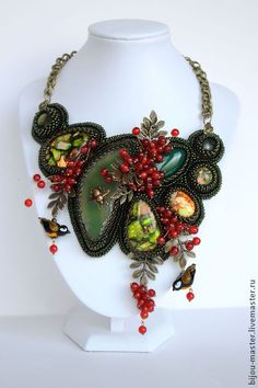 Incredible beaded necklace.