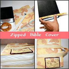 pattern for bible cover with zipper - Google Search