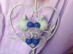 Perles en fimo et en métal argenté Modèle unique fait main