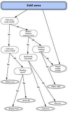 Homeopathy FlowChart for Cold Sores