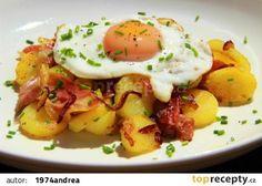 Tyrolské Gröstle recept - TopRecepty.cz Ezekiel Bread, No Salt Recipes, Gnocchi Recipes, Fruits And Vegetables, Bon Appetit, Sprouts, Food And Drink, Healthy Eating, Potatoes