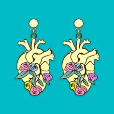 ANATOMY BLOOM – HEART Limited Edition enamel earrings