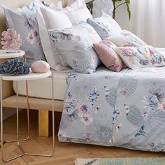 Zara Home digital Grey Comforter, Floral Comforter, Cotton Bedding, Linen Bedding, Bed Linens, Bedding Sets Online, King Bedding Sets, Luxury Bedding Sets, Zara Home