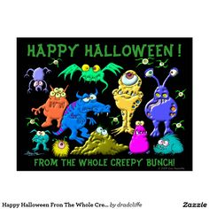 Happy Halloween Fron The Whole Creepy Bunch